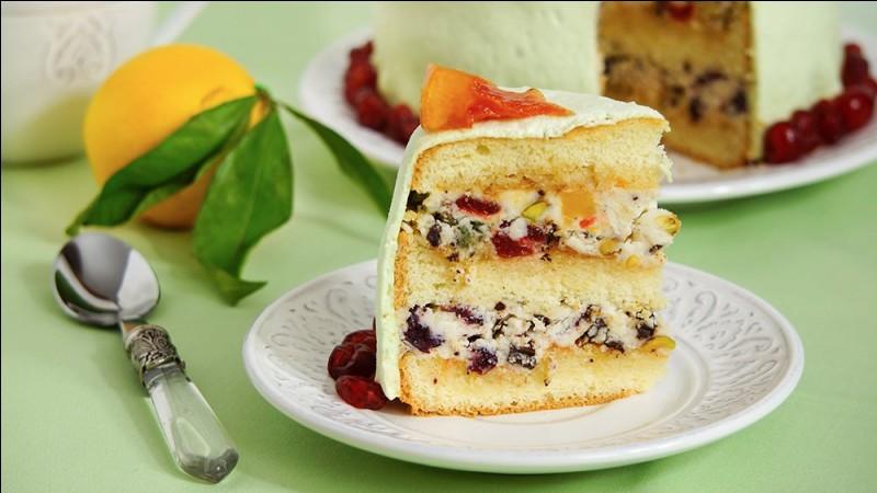 Quel est le pays d'origine de la cassate, entremets glacé préparé avec un meringage, des dés de fruits confits et de la crème fouettée ?