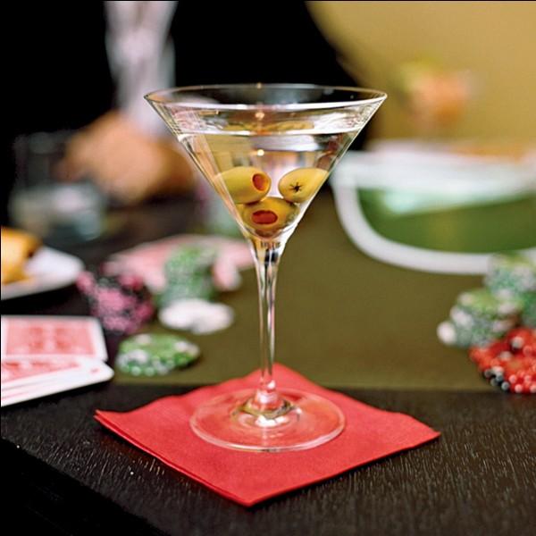 Quel ingrédient ne fait pas partie du cocktail Dry Martini original ?