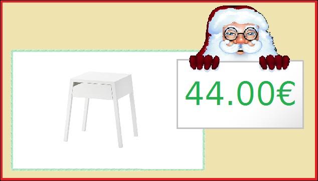 Cette table de chevet suédoise : 44.00€