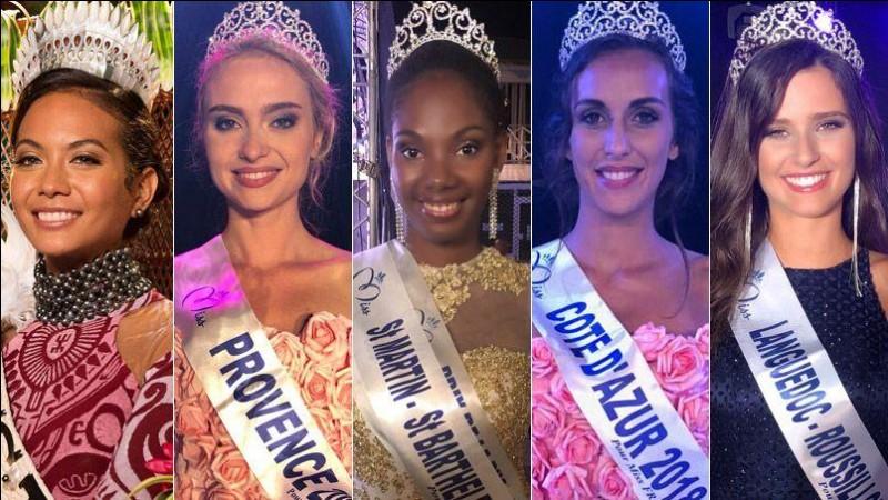 Quelle miss a remporté le titre de Miss France 2019 le 15 décembre 2018 ?