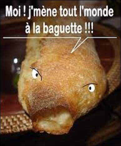 Santé : Dans notre baguette courante française d'un poids de 250 g, quel est le taux, en grammes, de glucides ?