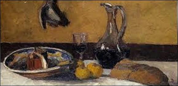 Peinture : ''Nature morte'' est un tableau réalisé en 1867 où on remarque un morceau de gros pain cuit au feu de bois à droite de la table. Quel impressionniste a peint cette toile ?
