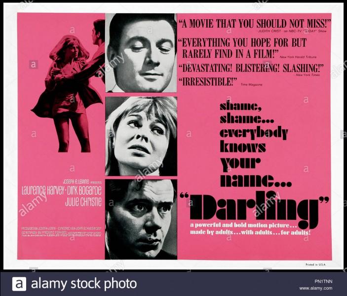 """""""Darling"""" est un film dans lequel joue Julie Christie."""