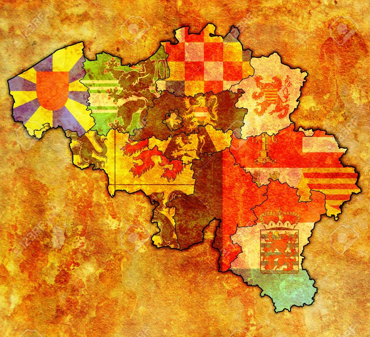 Provinces, communautés et régions belges
