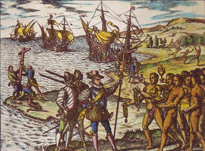 Le marin le plus chanceux est Christophe Colomb. Parti pour l'Inde en 1492, il découvre le continent américain, ce qui va faire sa fortune et celle des Espagnols. Dans quels bateaux, son équipage naviguait-il ?