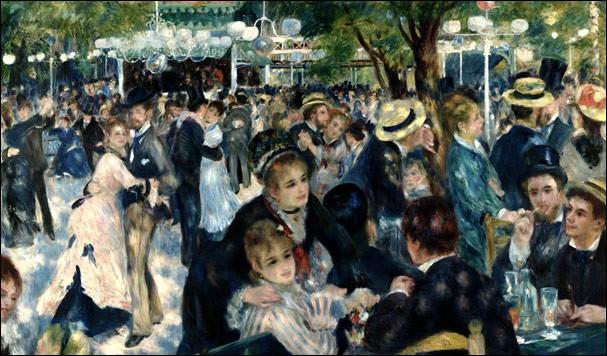 Tout le monde a déjà vu cette œuvre de Renoir, mais quel en est le titre, sachant qu'il n'en reste que 3 lettres : «... bal ... » ?