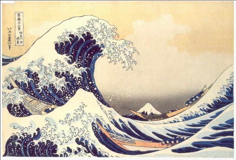 Cette célèbre estampe de Katsushika Hokusai - surnommé le « Vieux Fou de dessin » porte en sous titre « La grande vague (sur la côte de Kanagawa) ». Elle fait partie d'un cycle intitulé « Trente-six... ». Complétez !