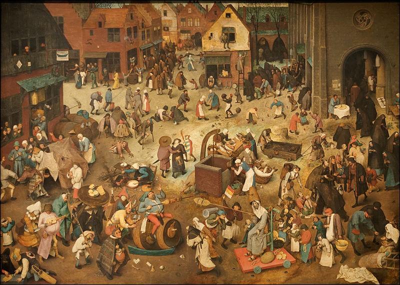 Retrouvez le titre de cette toile du maître Breughel l'Ancien ! Indice : 3 lettres « ...carn... »