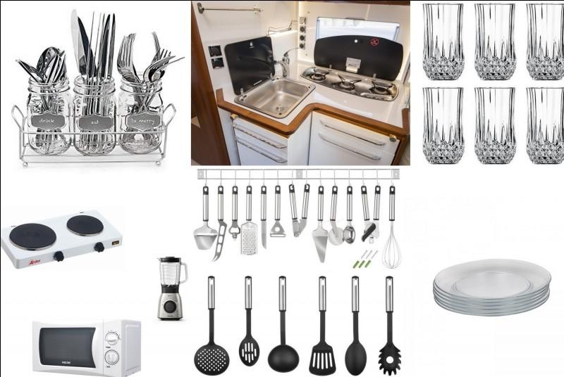 En face de l'outil informatique, cet espace permet de cuisiner de bons petits plats. C'est la partie...