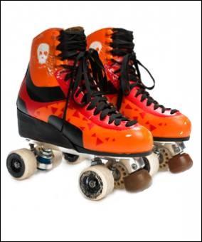 De quelle couleur sont les patins de Pedro ?