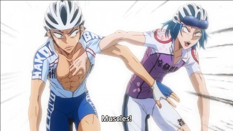 """Maintenant, passons au toucher avec Kishigami de 'Yowamushi Pedal"""", bien que son talent soit aussi efficace avec la vue mais en moins puissant. Que peut-il analyser en touchant les muscles de quelqu'un ?"""