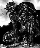 """Guts, de """"Berser"""", possède une armure qui lui permet de ne plus ressentir la douleur et la fatigue ; qui la lui a léguée ?"""