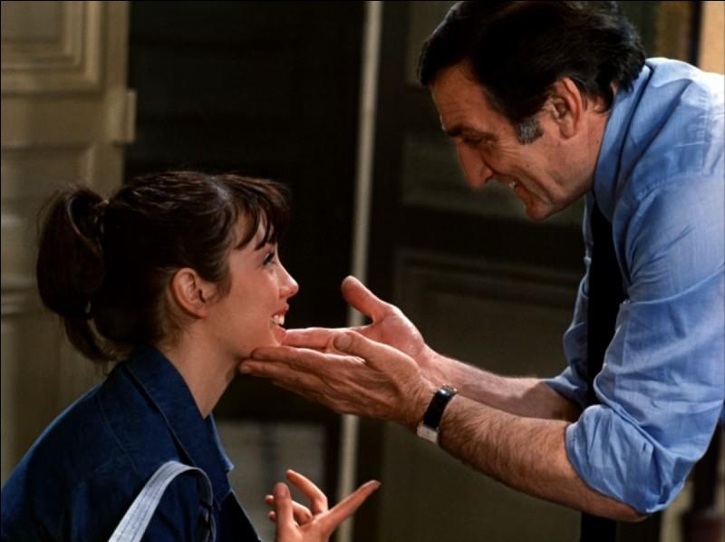"""Dans le film """"La Gifle"""", Isabelle Adjani gifle son père, que joue Lino Ventura..."""