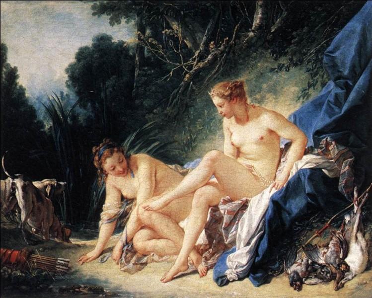 """Le XVIIIe siècle voit apparaître en France une peinture sensuelle, souvent qualifiée de libertine.Qui a peint """"Diane sortant du bain"""" ?"""