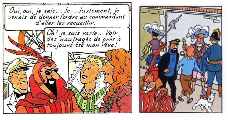 L'Italie inspire Hergé... mais les costumes peuvent resservir. La preuve ! Il vous est demandé : le nom du personnage de l'image de gauche et le titre de l'album de la vignette de droite...