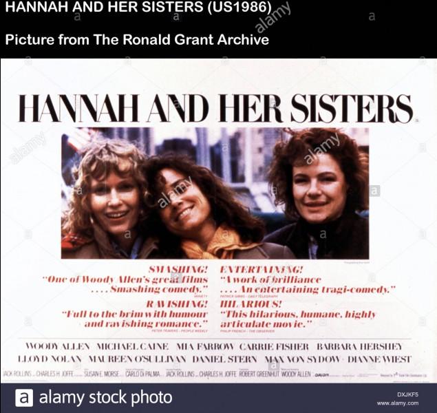 """""""Hannah et ses soeurs"""" est un long-métrage de Woody Allen."""