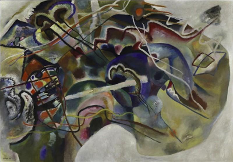 Le « synesthète » [définissez ce terme ! ] Wassily Kandinsky (1866-1944) s'abstrait du figuratif dès les 1910. Quel est le titre de complet de ce tableau : « Bordure .... » ?