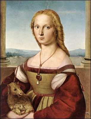 Le prénom de ce peintre italien mondialement connu a été maintes fois repris (notamment par un chanteur) : retrouvez-le ainsi que le titre exact de ce tableau de 1505-06, « ... Dame... »