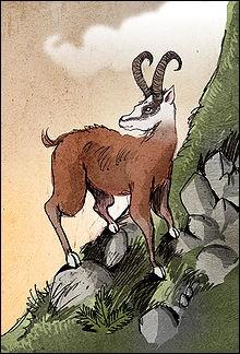 Le dahu vit dans les zones montagneuses et a des pattes plus courtes d'un côté que de l'autre. Le dahu possédant des pattes gauches plus courtes se rencontrerait sur le versant droit, tandis que le dahu dont les pattes seraient plus courtes du côté droit fréquenterait et brouterait le versant gauche.