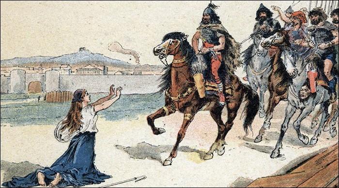 Sacrément courageuse cette none française face au terrible Attila. Qui est-elle ?