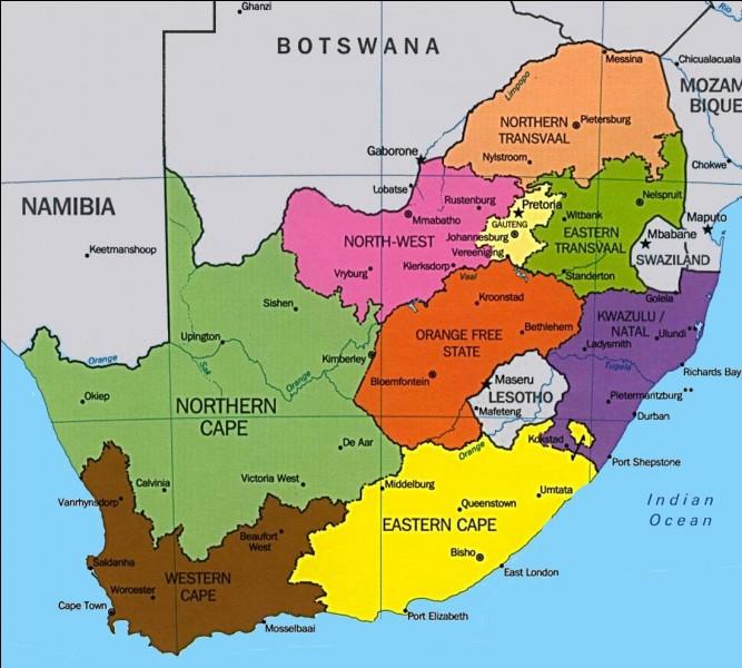 Quelle est la taille de l'Afrique du Sud ?