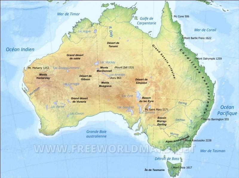 Quelle est la taille de l'Australie ?