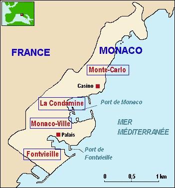 Quelle est la taille de Monaco ?