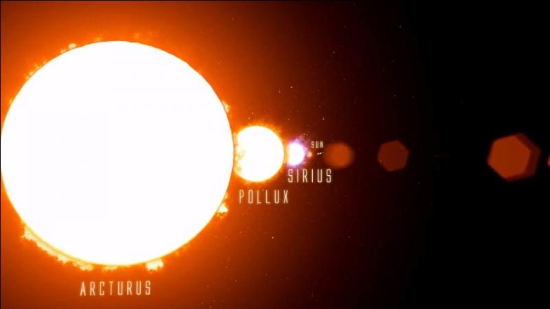 Quelle est la plus géante étoile qu'on connaisse ?