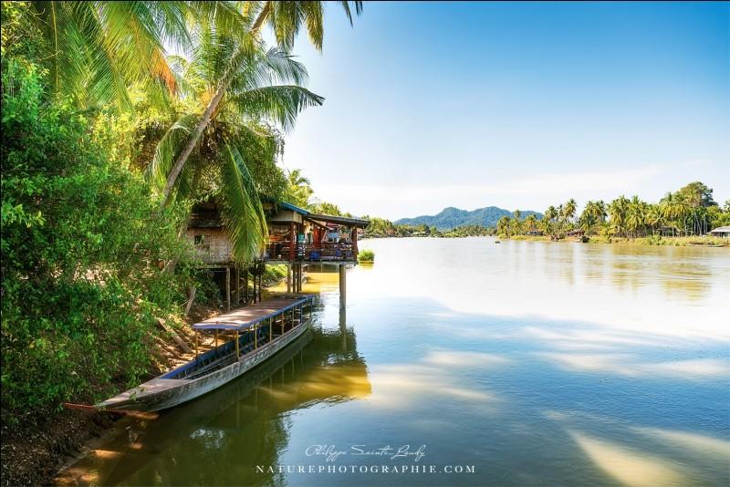 Nous sommes à quelques kilomètres de la frontière avec le Cambodge. Sur cette île, il n'y a pas de voitures, la vie se vit au rythme du Mékong, qui traverse plusieurs pays de l'Asie du sud-est.Quel est ce pays où ''votre pouls bat moins fort'' ?
