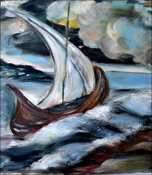 Comment est 'Le bateau' dans un des ses poèmes ?