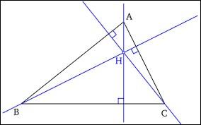 Comment nomme-t-on le point d'intersection des trois hauteurs d'un triangle ?
