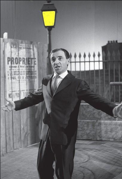 Enfin une petite pensée pour Charles Aznavour dont le décès nous a tous émus !