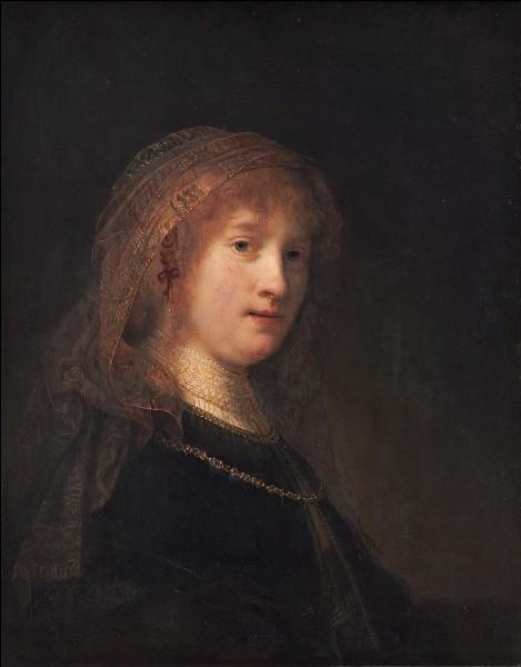 Qui a peint sa femme Saskia dans ce portrait ?