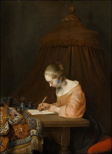 """Qui a peint ce tableau """"Femme écrivant une lettre"""" ?"""