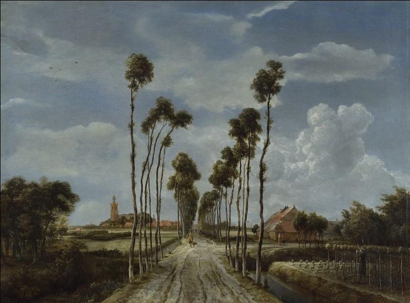 """Qui est l'auteur de ce paysage : """"L'Allée de Middelharnis"""" ?"""