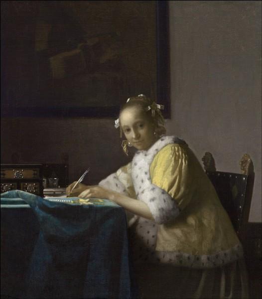 """Qui a peint """"Jeune femme écrivant une lettre"""" ou """"La Lettre interrompue"""" ?"""