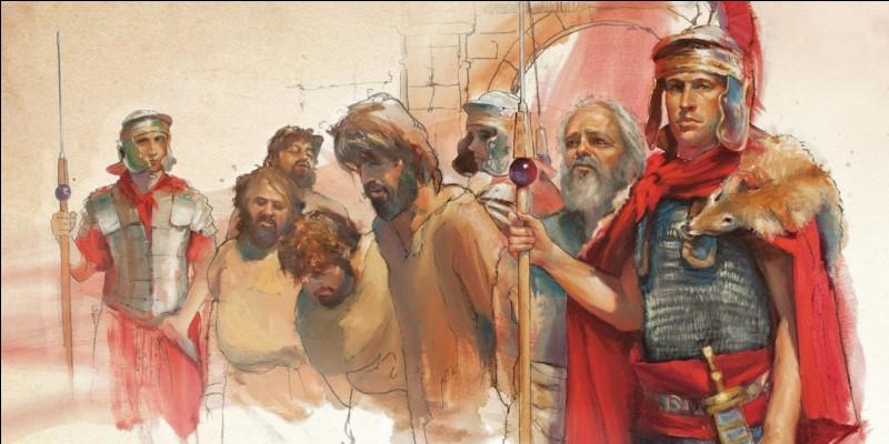 Ce centurion sauva la vie de l'apôtre Paul lors d'un naufrage. Qui est-il ?