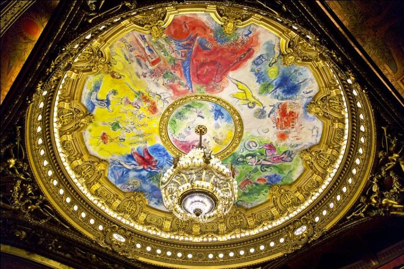 Qui a peint le plafond de la grande salle de l'Opéra Garnier, à Paris, en 1964 ?