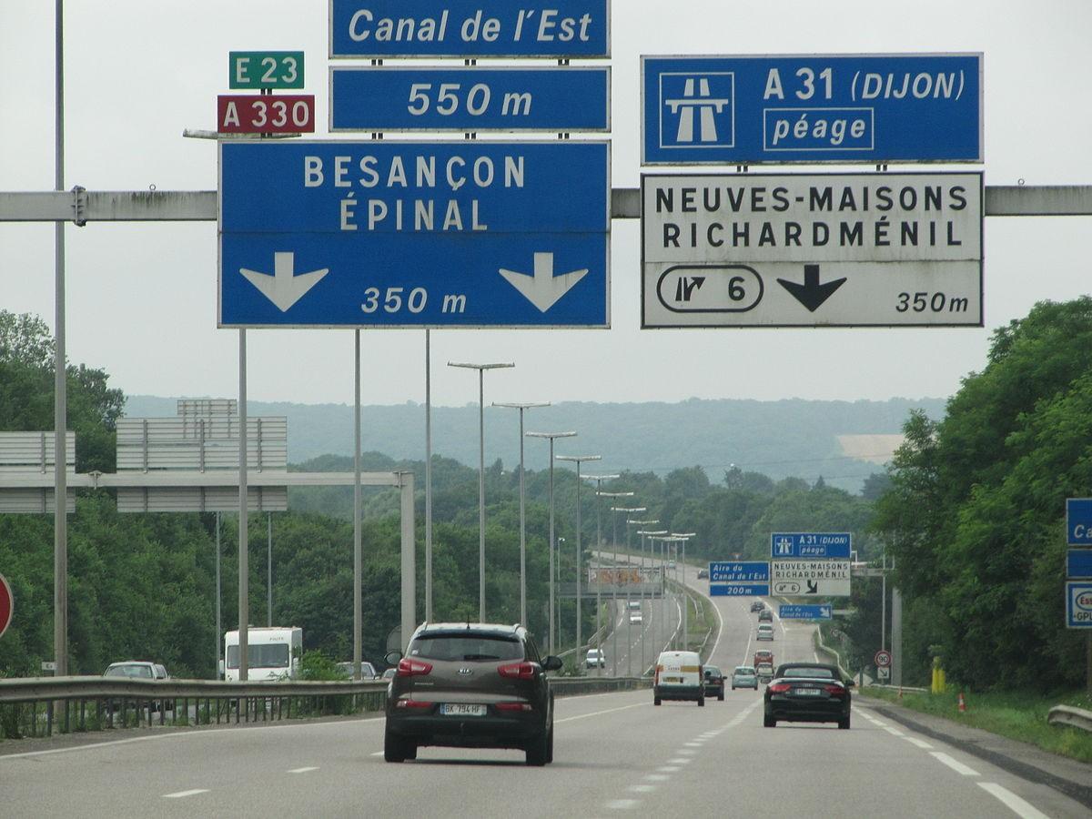Les autoroutes en France