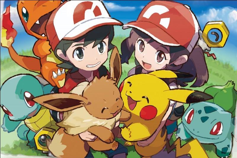 Il y a toujours 4 starters : Salamèche, Carapuce, Bulbizarre et Pikachu.