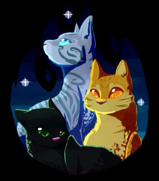 Qui sont ces trois chats ?