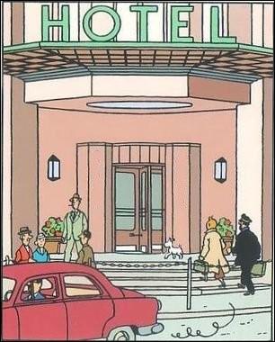 Dans « L'Affaire Tournesol », Haddock et Tintin vont à l'hôtel ..., dans la ville de ... . [ Complétez les pointillés !]