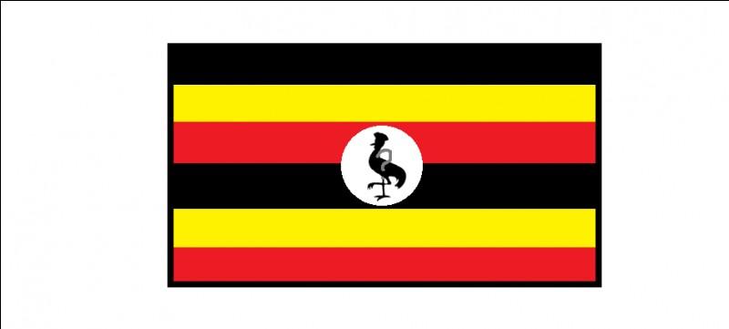 Quel animal est figuré sur le drapeau de l'Ouganda ?