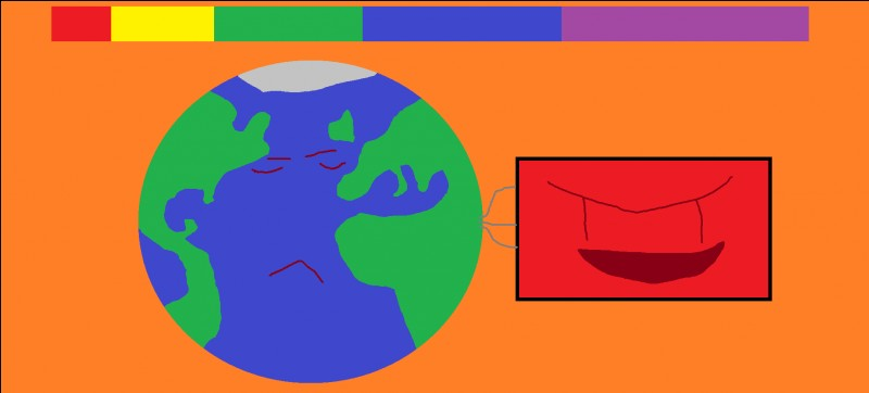 Oh non! La planète Terre est en train d'être contaminée par un être malveillant ! Vite quel est le drapeau du Tchad ?