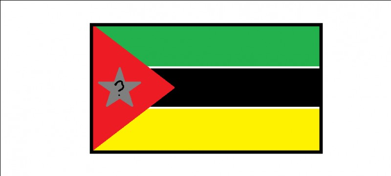 Sur le drapeau du Mozambique, quel élément se trouve sur l'étoile ?