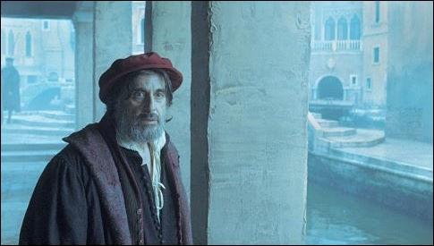 Al Pacino est à Venise dans le rôle de Shylock, d'après Shakespeare, jouant un usurier... Quel est le film ?