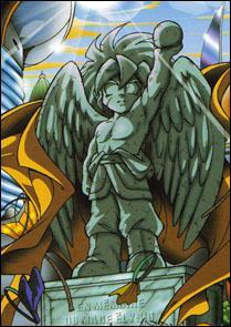 En quel honneur est érigée cette statue d'Elisyo dans le monde elfique?