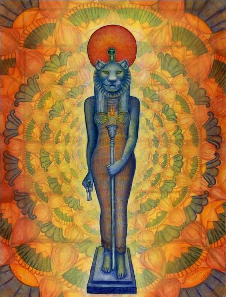 Dans l'Égypte ancienne, le lion est déifié sous la forme deSekhmet, la déesse destructrice. Selon la mythologie égyptienne, qu'est-ce qui sortirait de sa bouche ?