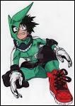 Comment s'appelle le super-héros chez qui Izuku à réalisé son premier stage ?