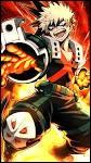 Avec qui Bakugou a-t-il fait équipe lors de la simulation de super vilain ?